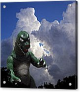 Godzilla Attacks Acrylic Print by William Patrick