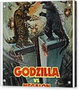 Godzilla Vs Megalon Poster Acrylic Print