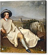 Goethe In The Roman Campagna Acrylic Print