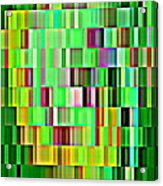 Going Green Geometric Abstractions Colorful Creations Designer Phone Cases 123 Carole Spandau Acrylic Print