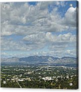 Going Places Cloudy Blue Sky Panoramic Acrylic Print