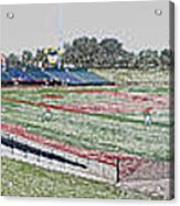 Going To The Baseball Game Digital Art Acrylic Print