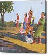 Going To The Powwow Acrylic Print