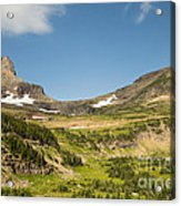 Going To The Sun Road From Highline Trail Acrylic Print