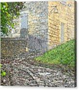 Going Up The Lane In Beynac Digital Print Acrylic Print