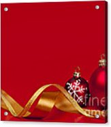 Gold And Red Christmas Decorations Acrylic Print