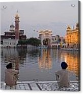 Gold At Golden Temple Acrylic Print