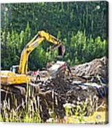 Gold At The End Of The Rainbow Along Taylor Highway-ak Acrylic Print
