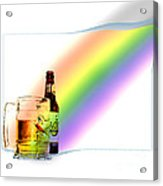 Gold At The End Of The Rainbow Acrylic Print