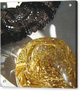 Gold Ball And Frame Acrylic Print