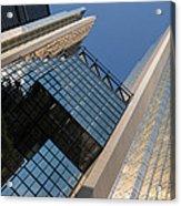 Gold Black And Blue Geometry - Royal Bank Plaza Acrylic Print