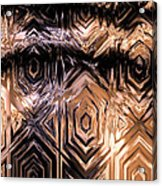 Gold Carving Acrylic Print