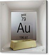 Gold Chemical Element Acrylic Print
