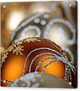 Gold Christmas Ornaments Acrylic Print