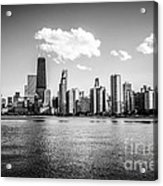 Gold Coast Skyline In Chicago Black And White Picture Acrylic Print