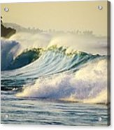 Gold Crested Surf Acrylic Print