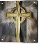 Gold Cross Acrylic Print