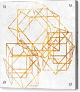 Gold Cubed II Acrylic Print