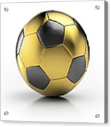 Gold Football Acrylic Print