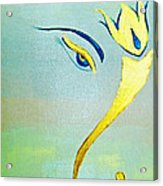 Gold Ganesh Acrylic Print