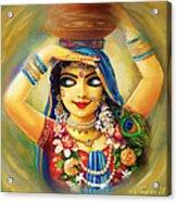 Gold Gauri Acrylic Print by Lila Shravani