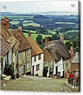 Gold Hill Shaftesbury Uk 1980s Acrylic Print