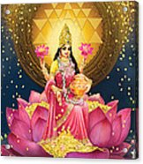 Gold Lakshmi Acrylic Print by Lila Shravani