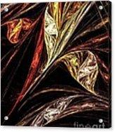 Gold Leaf Acrylic Print by Elizabeth McTaggart