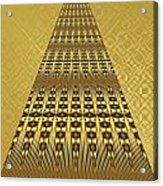 Gold Metallic 9 Acrylic Print