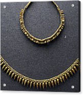Gold Necklace Acrylic Print by Andonis Katanos