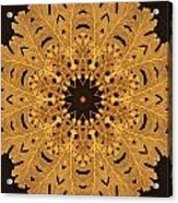 Gold Oak Leaves Acrylic Print