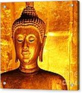 Gold On Gold Acrylic Print