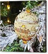 Gold Ornament Acrylic Print