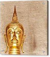 Gold Painted Buddha Statue Acrylic Print