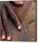 Gold Panning, Gold And Hand, Ethiopia Acrylic Print