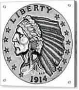 Gold Quarter Eagle Acrylic Print
