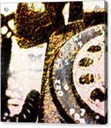 Gold Rotary Phone Acrylic Print