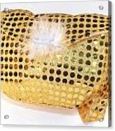 Gold Sequin Purse Acrylic Print