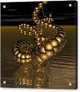 Gold Serpentine  Acrylic Print