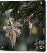 Gold Star Christmas Tree Ornament 4 Of 4 Acrylic Print
