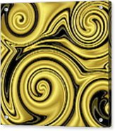Gold Swirl Acrylic Print