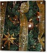 Gold Tones Tree Acrylic Print