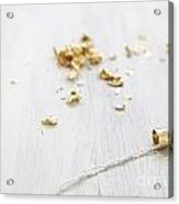 Gold Wedding Rings  Acrylic Print