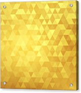 Golden abstract background Acrylic Print