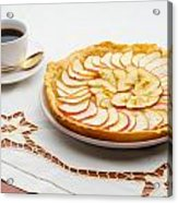 Golden Apple Tart And Coffee Cup Acrylic Print