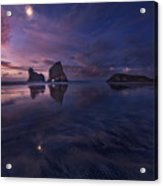 Golden Bay When Night Falls Acrylic Print