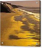 Golden Beach Sunrise Acrylic Print