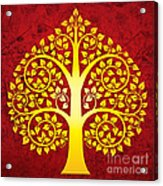 Golden Bodhi Tree No.1 Acrylic Print