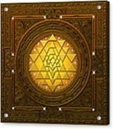 Golden-briliant Sri Yantra Acrylic Print