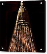 Golden Broom Acrylic Print